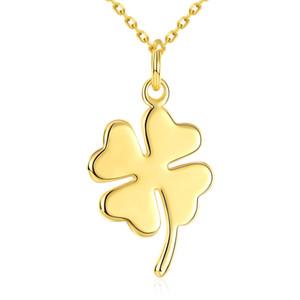 Четыре листа обложки ожерелья Цепь с кулоном Romantic 18 K Gold Изысканный люкс Элегантный звеньевые цепи цинковый сплав День рождения подарки POTALA038