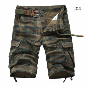 Men Shorts Plaid Beach Shorts 2020 Summer Mens Casual Camo Camouflage Shorts Military Short Pants Male Bermuda Cargo Overalls CX200701