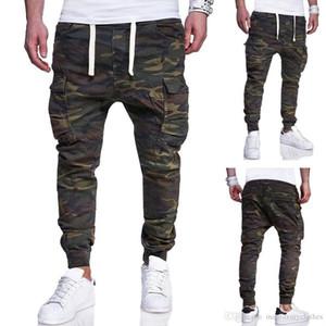 Pantalones pantalón para hombre del diseño del basculador de camuflaje lápiz los bolsillos del pantalón casual Diseño