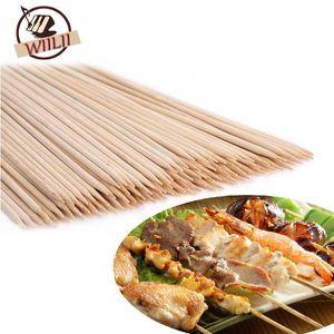 WIILII 80-90 PCS Bamboo Brochettes Grill Shish Kabob Bois Sticks Barbecue Outils de cuisine BBQ