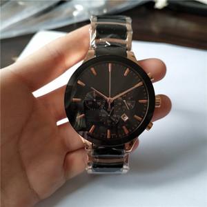 2015 nouvelle mode en or rose et top chrono quartz céramique Vendre Homme montres chronographe montre Business Style 017
