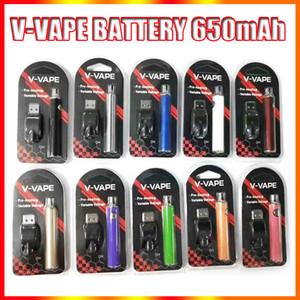 V-Vape lo precalentador VV Batería Kit de blister 650mAh Voltaje variable Ajustable con cargador USB para 510 cera de aceite grueso de aceite de precalentamiento