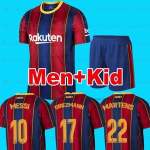 20 21 FC BARCELONA camiseta de fútbol ANSU FATI 2020 2021 Messi camisa GRIEZMANN DE JONG MARTENS ANSU FATI soccer Jerseys de fútbol camisa hombres kit de niños camisa de futebol