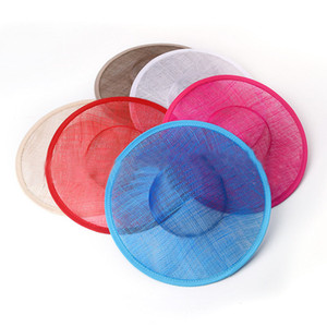 Alta qualidade sinamay vinculativo grande base sinamay pires fascinator hat craft fornecimento, para o derby, raças, festa, casamento, diâmetro 25 cm