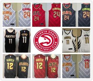 2020 CITY jerseys shirts 24 Bruno Fernando Trae 11 Young Dominique 21 Wilkins De'andre 12 Hunter basketball