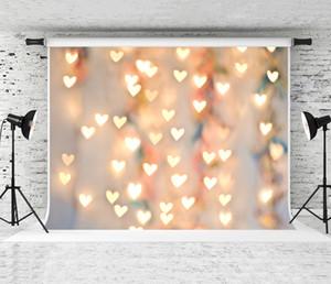 Fotoğrafçı Lover vur Studio Arka planında Prop için rüya 7x5ft Sevgililer Günü Aşk Fotoğrafçılık Backdrop Bokeh Kalpler Fotoğraf Arkaplan