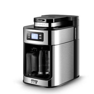 Tam Otomatik Kahve Makinesi Makinası Öğütücü Damla Tipi Ev Küçük Bir Makinası Taşlama Fasulye Soya Unu LED Ekran