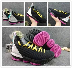 2019 zapatos L16 SB Rosa Negro Blanco Amarillo baloncesto de los hombres Últimas Trainer buena calidad de la llegada J16 Mens deportes atléticos