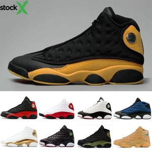 С коробкой высокого качества 13s Его игра баскетбол обувь 13 Phantom Капитан Америка Высота Retre NakeskinИорданияRetros Спорт J13