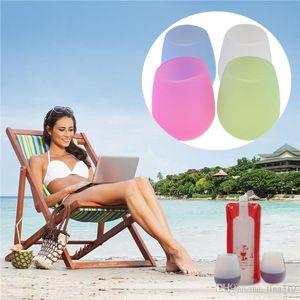 Yeni Renkli Moda çay fincanı Kırılmaz net Kauçuk Şarap Cam Katlama fincan silikon silikon şarap IB729 gözlük Varış