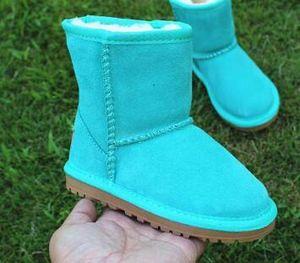 2021 Classic Kids Boots Australia nieve Diseñador muchachos de las niñas de invierno peludos botas unisex Short media pantorrilla de arranque del niño zapatos caliente Tamaño 21-35