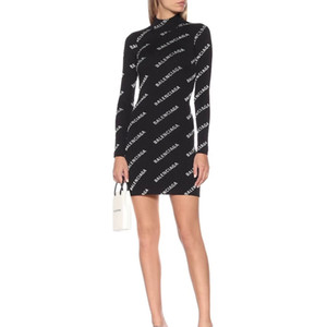 Luxe Robe Femmes Automne Hiver Marque Sexy Robes à manches longues Lettre broderie Mesdames robe de soirée Skinny club Robe moulante B102589K