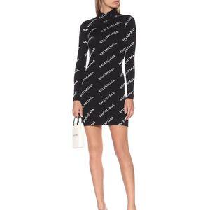 Роскошные платья женщин осень зима Марка Сексуальное платье с длинным рукавом Письмо вышивки дамы тощий платье клуба партии Bodycon платье B102589K
