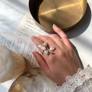 MENGJIQIAO nuovo ed elegante naturali perla d'acqua dolce Resizable squilla per le donne gioielli regali studenti Mid Finger Knuckle squilla il partito