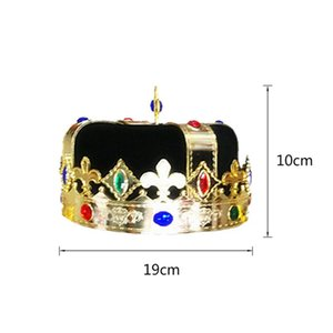 King Princess Crown Hat Cosplay Prop Headwear Party Costume Hat For Kids Adults Children Cosplay Supplier