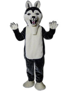 2019 nuevo lobo-perro HI Husky Dog traje de la mascota Anime Unisex Carnival Costume Costume Party Mascot Año Nuevo Navidad Halloween