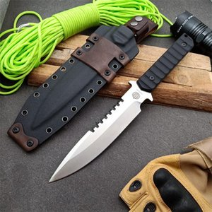 Strider BT Commemorative Edition straight knife DC53 fixed blade Black composite G10 handle survival camping knives