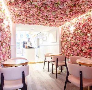 Rose Artificial 40x60cm personalizado Cores decoração da parede Wedding Silk Rose Flor artificial backdrop da parede da flor EEA1587 Romântico