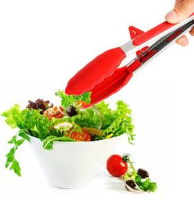 Yapışmaz Salata Ekmek Klip Mutfak Barbekü Kaplar Mutfak Gadget Aksesuarlar Silikon Mutfak Maşa barbekü Izgara Tong Pişirme