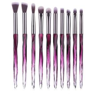 10pcs Makeup Brushes Set Diamante punho Olhos jogo de escova da sombra escova de sobrancelha escova macia cosméticos capilares Ferramentas de Beleza