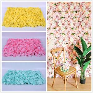 pared de flores artificiales hortensias artificiales delicada pared de la flor de la decoración del banquete de boda ecológico duradero flor de seda pared telón de fondo