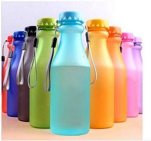 Su Kaçak-Proof Yoga Gym Fitness Shaker Su Şişesi Kırılmaz Şişe Fit Çocuklar için 550 mi Plastik Spor Şişeler