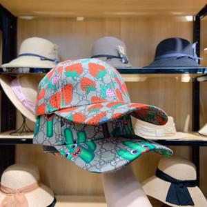 Güneş şapka kaktüs Sıcak klasik Harf Çilek baskı beyzbol şapkası Kadınlar Ünlü Pamuk Ayarlanabilir Kafatası Spor Golf Kavisli kaliteli