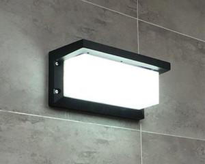 20led открытый водонепроницаемый настенные светильники AC85-265V 10W IP65 простой стиль квадратный алюминиевый сплав двор коридор проход крыльцо огни LLFA