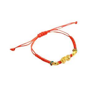 1pc New Amulet Handmade Red Rope Bracelet Woven Red Rope Color Pi Xiu Bracelets Drawstring Elastic Design Lucky Bracelet