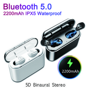 X8 Bluetooth 5.0 Earphones TWS Wireless Bluetooth Handsfree Sports Stereo Earbuds Built-in Mic With 2200mAh Charging Box