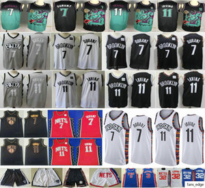 2019-20 New BrooklynNtes #7 Kevin Durant #72 Black Biggie 32 Erving 3 Petrovic 11 Mens Kyrie Irving Man Kids Youth Basketball Jerseys