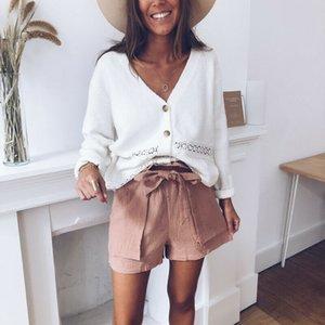 Maglia a manica Moda a lungo allentato maglione lavorato a maglia autunno solidi sfusi Outwear Cardigan Outwear Tops Streetwear
