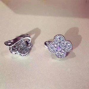 Clover уха клип ювелирных изделий серьги для женщин помолвка свадьба ювелирные изделия Christmas Party Gift