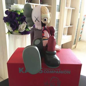 [TML] 28cm KAWS Companion orijinal sahte siyah, kırmızı ve gri medicom Action Figure model oyuncak fabrikası prodct% 100 gerçek resim hediye KAWS