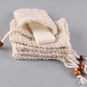 Mesh-Bad-Seifen-Bag Saver Pouches Durablel Natur Dusche Seife Tasche Exfoliator Sponge-Beutel für Dusche Badewanne Schäumende OOA7441