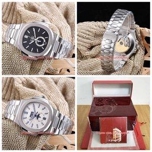 20 Стиль Верхнее качество Часы 40,5 Nautilus 5726 / 1A-010 001 Sport Asia Прозрачный Механические Автоматические Мужские Мужские часы с коробкой Papers