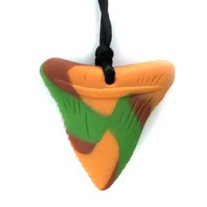 1PC Shark Tooth Silicone Sensory Toys Autism Toys Best Toys for Autism For Children Biting Improving ASD FDA Approved Multi Colors