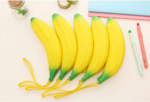 Designer-nette Silikon-Geldbörse Studenten Bleistift Obst Banana Münzen Kleine Geldbörse