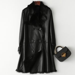 Natural Real Fur Coat Female Genuine Leather Jacket Autumn Winter Coat Women Clothes 2020 Korean Kid Lamb Skin Double-faced Tops