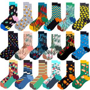 Robe Fun chausettes prime coton Patterned Crew colorée Funky Fancy Nouveauté drôle Chaussettes simple d'homme Happy Socks
