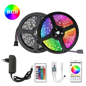 RGB LED Strip Ribbon LED Light Strip RGB Tape SMD 5050 SMD Flexible 5M 10M Diode Tape with Remote 12V For Decoration