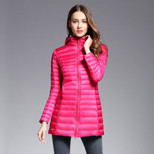 Ultra Light White Duck Down Coat Women Solid Color Short Thin Jacket Autumn Winter 2019 Warm Slim Outwear Clothing 2020