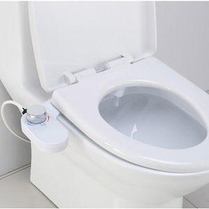 Bidé enjuague No Electricidad inteligente WC Tapa de enjuague Asiento bidé agua del rociador de limpieza de doble boquilla para inodoros de baño Lavado