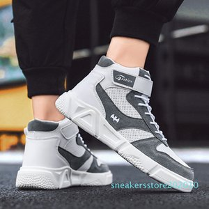 2019 New Style Autumn MEN'S SHOES Versatile Casual High-top Board Shoe Korean-style Trend Athletic Shoes Winter Students Hip-hop s10