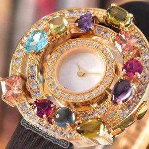 Luxry высокого качества ювелирных изделий Astrale 102011 AEP36D2CWL белый циферблат кожа Часы серебро Алмазный диск Швейцарский Кварц Дешевые Женская мода Lady