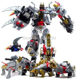 G1 BPF Trasformazione Dinoking Volcanicus Grimlock Scorie fanghi Ringhio Picchiata taglio su Dinobot 5IN1 figura di azione del robot Giocattoli T200106