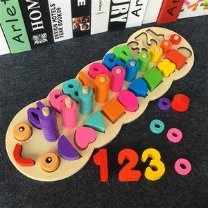 Montessori enfants d'âge préscolaire Jouets éducatifs en bois Conseil de comptage Caterpillar Math Jouet en bois pour enfants Jouets éducatifs CX200609
