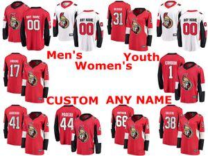 Ottawa Senators jerseys Brian Gibbons Jersey Mike Hoffman Mike Condon Anders Nilsson Rojo Blanco hockey jerseys cosido personalizada