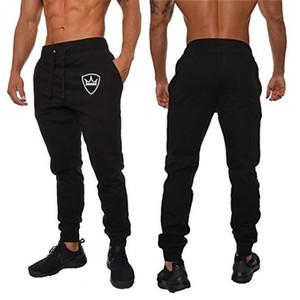 Nouveau Hommes Marque Joggers Homme Pantalons Pantalons simple homme jogging gris Sweatpants Casual coton élastique Gym Fitness Workout Dar