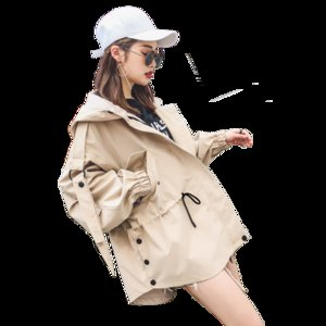 Western style windbreaker jacket Spring 2020 spring new Korean female student short paragraph wild little jacket Ms.